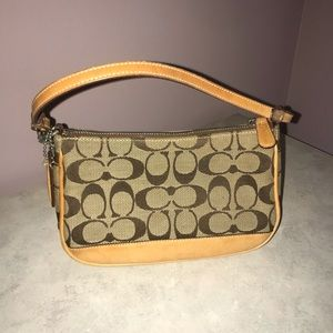 Tan/ brown Coach bag with dust bag